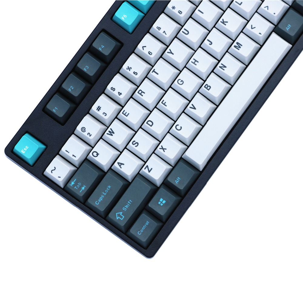 PBT Keycaps Dye Sublimated Cherry MX Key Caps ANSI Layout With Keypuller For 87/104/108 MX Switches Mechanical Gaming Keyboard