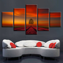 Poster Frame HD Printed Modern Canvas Living Room 5 Panel Dusk Nature Landscape Painting Wall Art Modular Pictures Home Decor