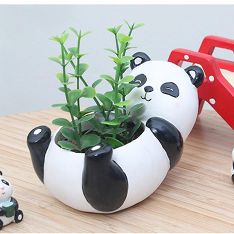 Image 5 - Succulent Plant Pot Cute Animal Flower Planter Flowerpot Create Design Lovely Little Animals Home Garden Bonsai Pots-in Flower Pots & Planters from Home & Garden