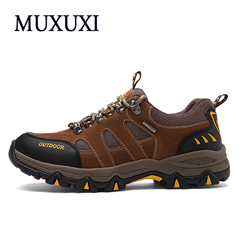 Men Breathable Outdoor Shoes 2017 New Breathable Men Casual Shoes Leather Ankle shoes Plus size 38