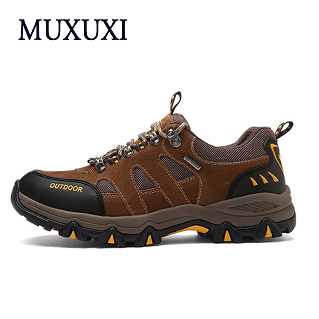 Men Breathable Outdoor  Shoes 2017 New Breathable Men Casual Shoes Leather Ankle  shoes Plus size 38-45 Outdoor adventure shoes