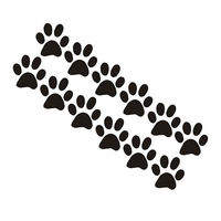 Free shipping DOG CAT ANIMAL PET PAW PRINTS 24 PCS VINYL WALL DECALS STICKERS HOME DECOR /wall stickers