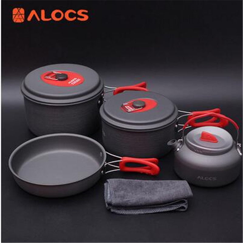 POINT BREAK Happy picnic pot three to four people Seven times Outdoor set of pan of the CW - C06S kettle color picnic set