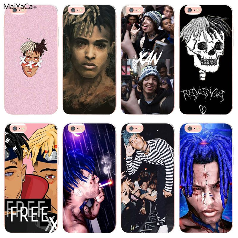 check out 04ade a6b3a US $1.21 39% OFF|MaiYaCa Rap Singer XXXTentacion MC for iphone 8 plus cases  TPU Transparent For iphone 7 7plus 6s X 5S 5C Coque Shell Phone Case-in ...
