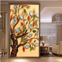 3890394c67 QIANZEHUI,DIY 5D Fortune Tree Four Seasons Embroidery,Round Diamond Full  rhinestone Diamond painting cross stitch,needlework