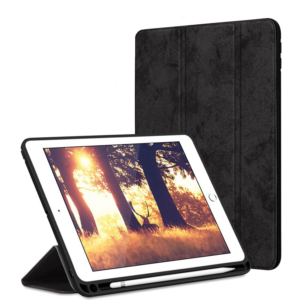2019 7 iPad for For Case Leather 10.2 with Holder Smart Pencil Apple PU Cover iPad 7th