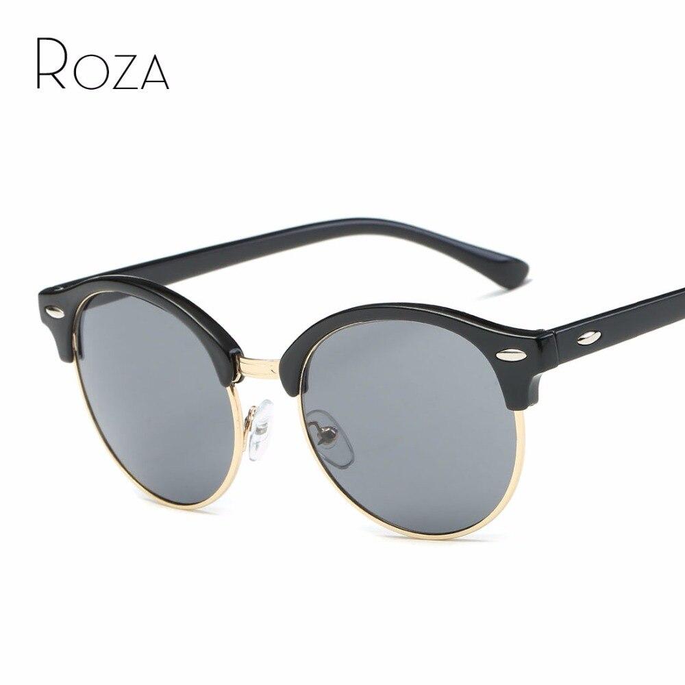 ROZA lunettes de Soleil Femmes Marque Designer Semi-Sans Monture Rétro  Unisexe Lunettes de Soleil UV400 QC0508 da893902a73f