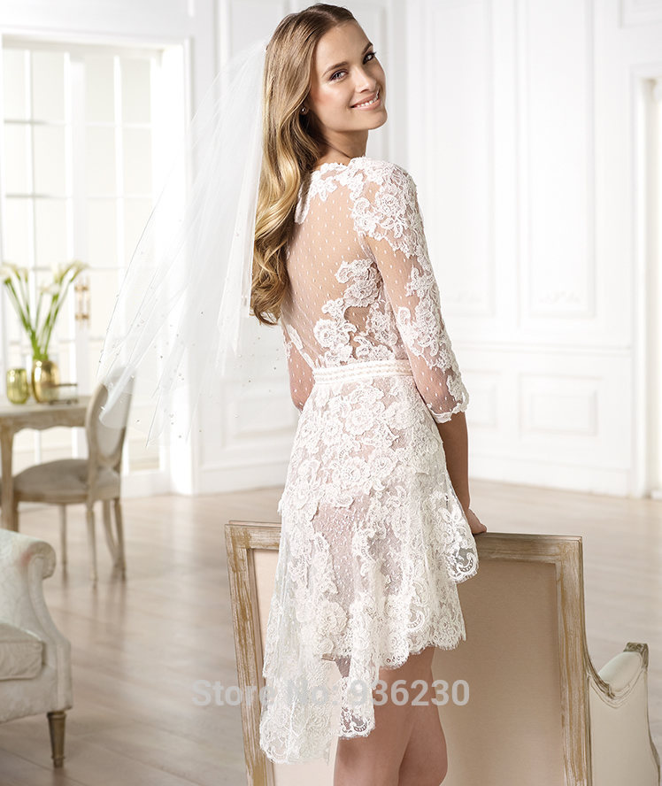 Online Shop Bohemian Wedding Dress Halter Top Dresses Classy Cheap From China Knee Length A Line Floor Chapel Trai 2015 Free Shipping