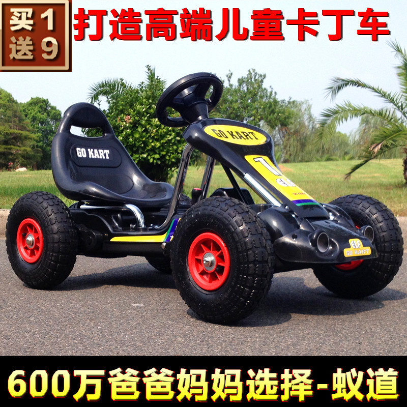 the new childrens electric car stroller ant road karting four dual drive remote control toy