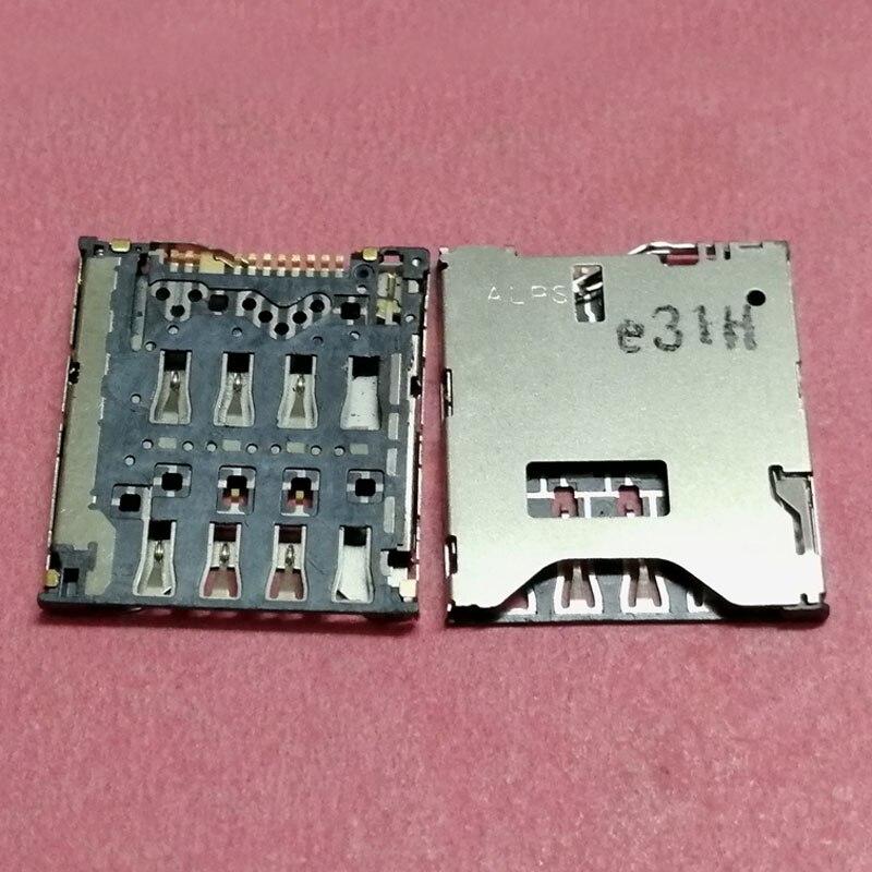 2pcs SIM Card Reader Slot tray Holder Connector for HTC M7 ONE 802T 802D 802W htl22 ONE SV C525E 6160 ONE S Z520E z560e socket