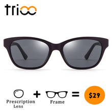 4c93c80568 TRIOO Photochromic Minus Glasses Prescription Driving Diopter Spectacles  Summer Reading Glasses UV400 Fashion Oval Design(