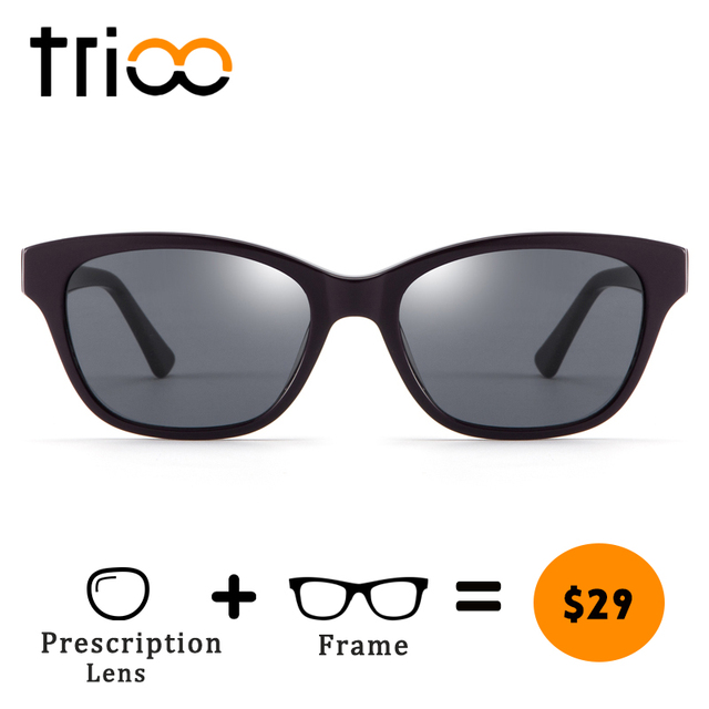 7c6dd953f8 TRIOO Photochromic Minus Glasses Prescription Driving Diopter Spectacles  Summer Reading Glasses UV400 Fashion Oval Design