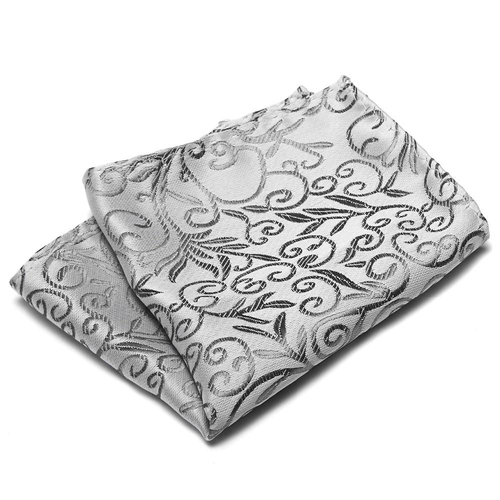 New Design Gentlemen Style Pocket Square Creative Floral Christmas Wedding Hanky Chest Towel Handkerchief For Men Suit