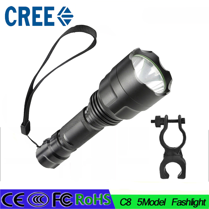 14 High Power 3800 Lumen 5 Mode CREE XM-L T6 LED C8 Flashlight Torch Lamp Light Super Bright led light for Camping Hunting 10 x cree xm l t6 10t6 18000lm 5 mode led flashlight waterproof high power torch hiking camping lantern lamp t10
