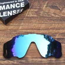 f90c1b0793960 Jawbreaker ToughAsNails Polarizada Lentes de Reposição para Oakley Óculos  De Sol Azul Espelhado (Lente Única)