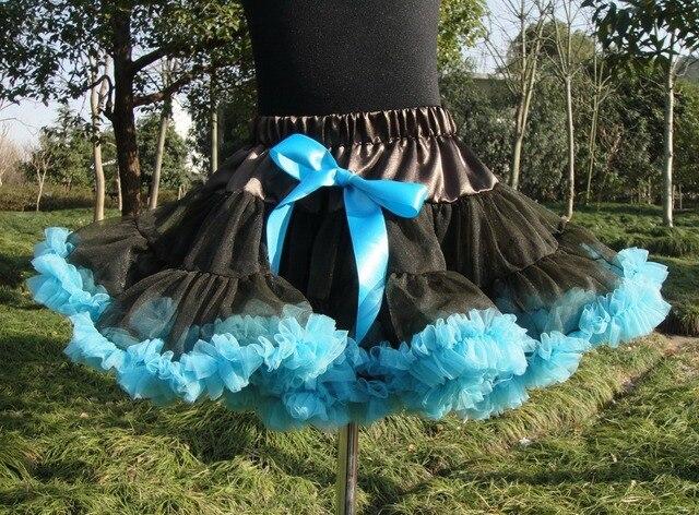 Baby kids solid color girls fluffy dance wear pettiskirts cute chiffon tutu princess skirts Free shipping PETS-029