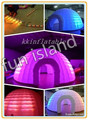 2016 nova marca criativa barraca iglu inflável com luz led, cúpula de planetário inflável