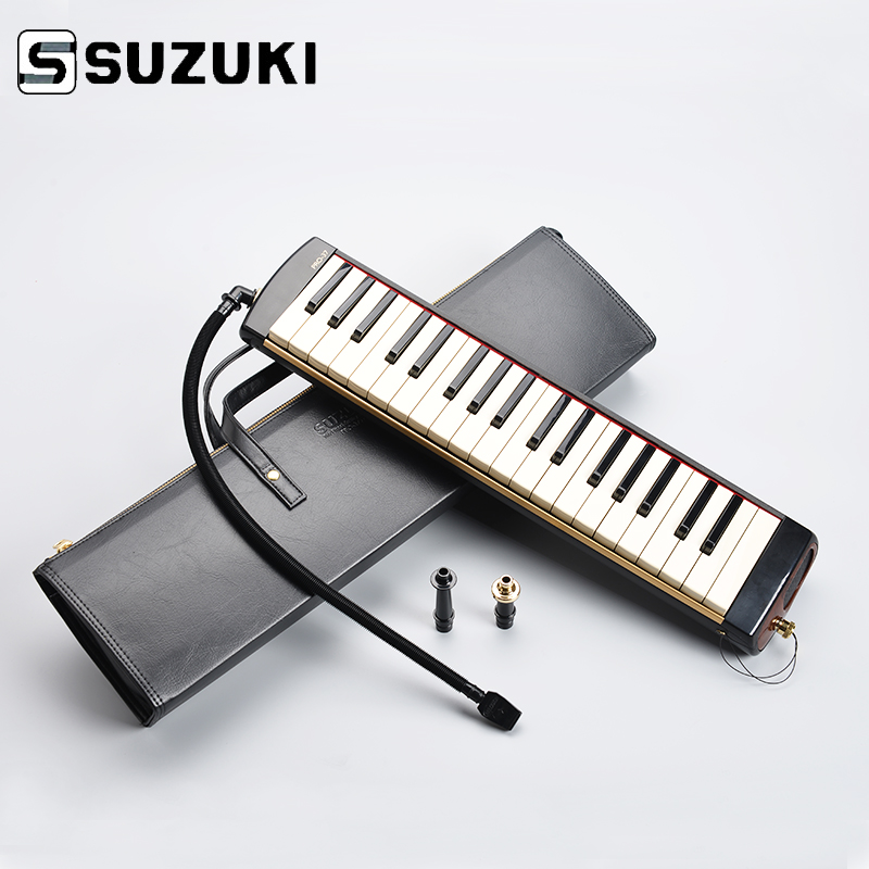 SUZUKI PRO-37V2 Pro 37-Key Professional Melodion Alto Melodica with Case Professional Performance swan 37 keys melodica black color teaching music fundamentals mouth organ melodica musical instruments accordion accessories
