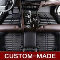 Custom fit car floor mats for Volkswagen Beetle CC Eos Golf Jetta Passat Touareg sharan 3D car styling carpet floor liner RY114