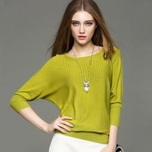 SFFZ Pleteni pulover pulover ženske O-vrat vratu rokavi pletenje pulover priložnostne izdušuje zelen jopič puloverji preproste vrhove