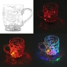 Очки пивная чашка Дракон светодиодный Индуктивный Радужный Цвет мигающий светильник светящиеся кружки для вечерние