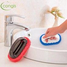 Congis 1PC Home Strong Decontamination Bath Brush Magic Sponge Tiles kitchen Supplies Wash Pot Clean Rub