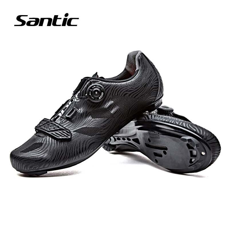 Santic Cycling font b Shoes b font Men TPU Breathable Road Bike font b Shoes b