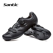 Santic Cycling Shoes Men TPU Breathable Road Bike Shoes Self-Locking Cycle Athletic Shoe 2018 Pro Racing Team Bicycle Sneakers