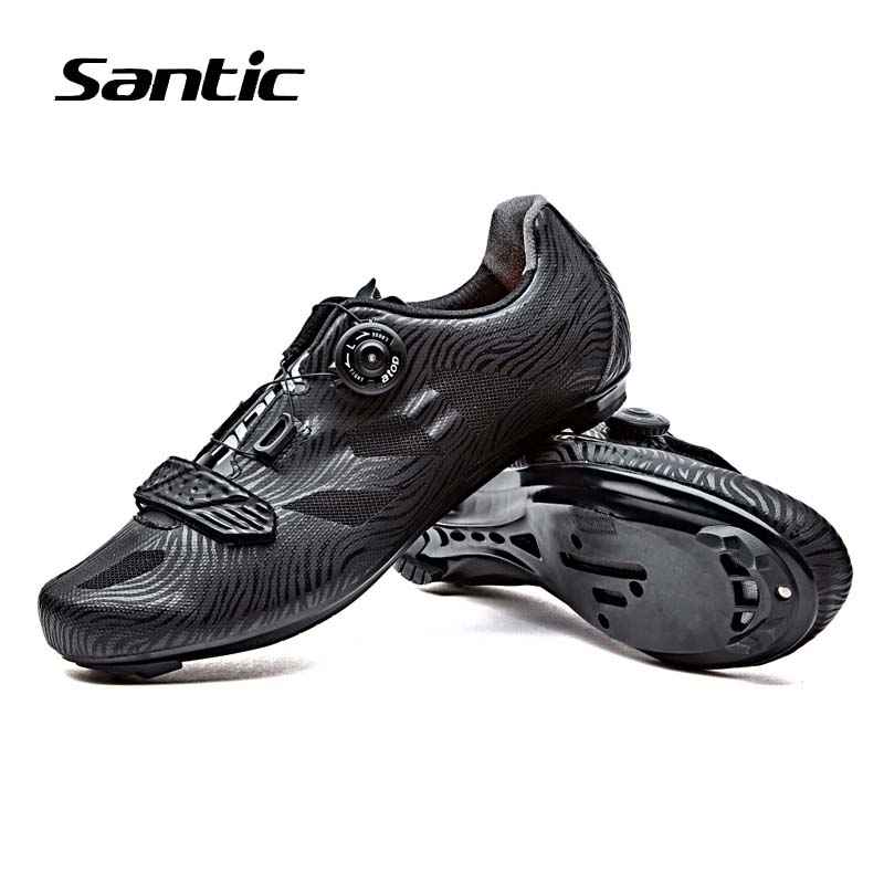 Santic Road Cycling Shoes Men Breathable Bike Shoes Self-Locking Cycle Shoes For Athletic Pro Racing Team Bicycle Shoes Sneakers santic men pro cycling shoes road bicycle shoes breathable