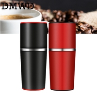JIQI Manual Coffee Grinder Hand Pressure Portable Espresso Maker mini Outdoor Travel Black Coffee Pressing machine Bottle Pot