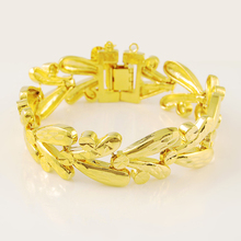 Vintage Retro 24K Gold Plating Bracelet Yellow Gold Color Bracelets Accessories for Women Luxury Wedding Jewelry Gift цена и фото