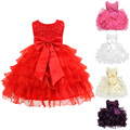 New Arrival Girls Dress Birthday Baby Girl Dresses Kids Children Summer Clothes Sleeveless Lace Birthday Costume LD789