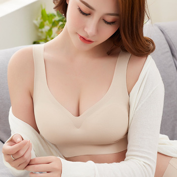 Sexy Women Bras Push Up Gather Bralette Seamless Bra Wire Free Soutien Gorge Femme Comfort Underwear Solid Color Vest Brassiere
