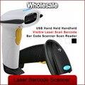 5pcs Wholesale USB Held Handheld Visible CCD Laser Scan Barcode Bar Code Scanner Scan Reader Black/White