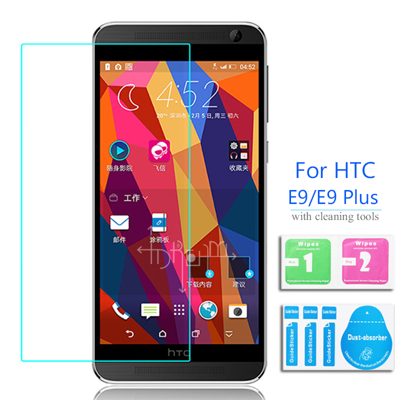 For HTC One E9 Tempered Glass Screen Protector 2.5 9h Safety Protective Film on E 9 Plus E9+ E9px E9pw E9Pt A55 E9w E9t Dual Sim