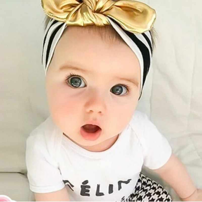26c19e53321 Baby Girls Hairbands Toddler Baby Bowknot Headwear Kids Turban Knot Headband  Hair Accessories