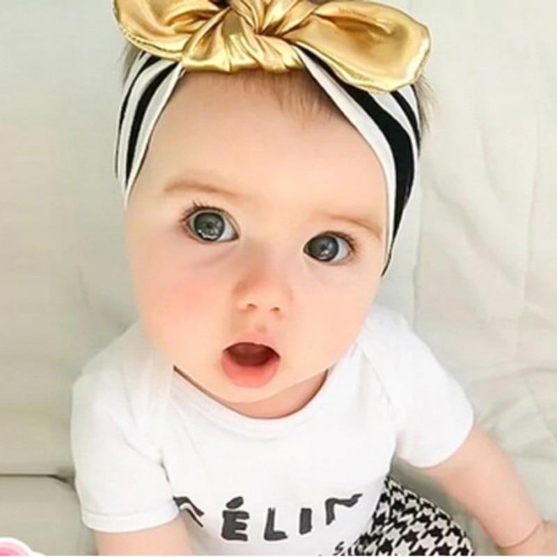 Baby Girls Hairbands Toddler Baby Bowknot   Headwear   Kids Turban Knot Headband Hair Accessories