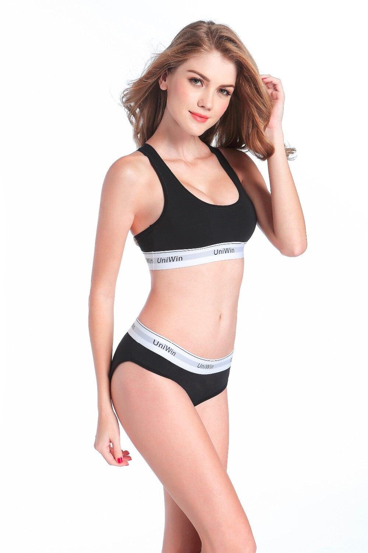 b5115442f7 UNIWIN Female cotton underwear briefs ladies bikini bralette teenage ...