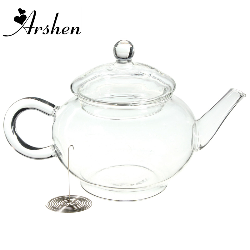 Arshen 250ml/8.5oz Borosilicate Durable Glass Teapot Heat Resistant Bottle Cup for Blooming Tea Herbal Coffee With InfuserArshen 250ml/8.5oz Borosilicate Durable Glass Teapot Heat Resistant Bottle Cup for Blooming Tea Herbal Coffee With Infuser