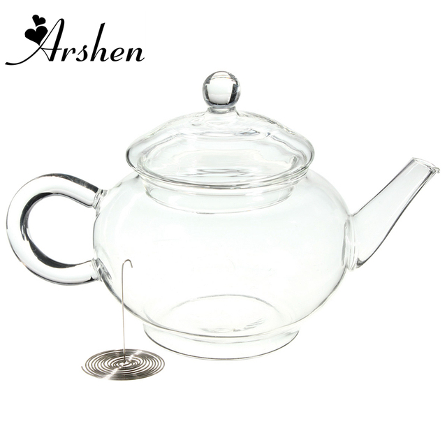 Arshen 250ml/8.5oz Borosilicate Durable Glass Teapot Heat Resistant Bottle Cup For