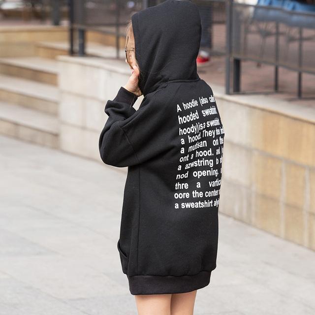 Longa com capuz de algodão grosso meninas suéter crianças clothing hoodies inverno meninas das crianças roupas Tops Para 6 7 8 9 10 11 12 13 14