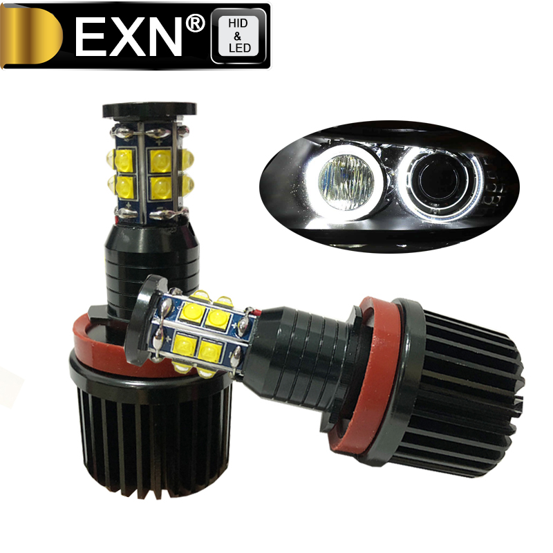 120W High Power Error Free H8 E92 LED Angel Eyes Bulb For BMW X5 E70 X6 E71 E90 E91 E92 M3 E60 LED Angel Eye Bulb High Power 2pcs pair 24 led license plate led light lamp white 6000k error free for bmw e39 m5 e70 e71 x5 x6 e60 m5 e90 e92 e93 m3 525i
