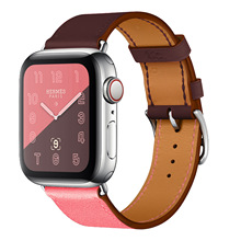 Two-tone Style Strap for Apple Watch Band 38mm 40mm 42mm 44mm Genuine Leather Watchband for Apple Watch Series 1 2 3 4 Bracelet