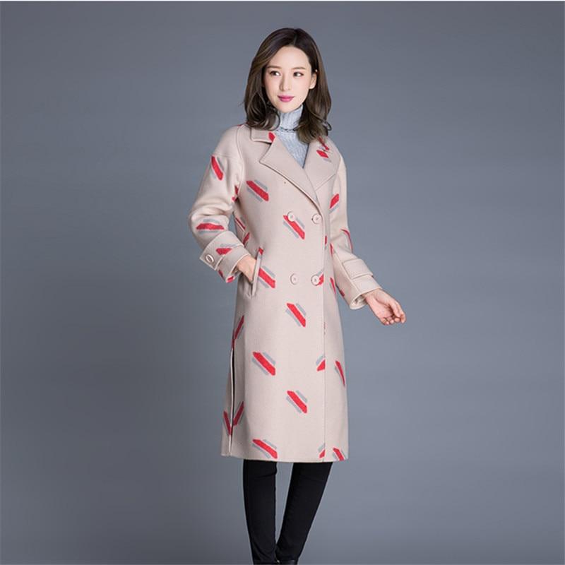 Laine De Plus Élégant Femmes Apricot Pardessus La Tweed Automne Hiver caramel Mélange Coréenne Femelle Manteau Taille Veste Longue 2018 xZ8wqwEXI