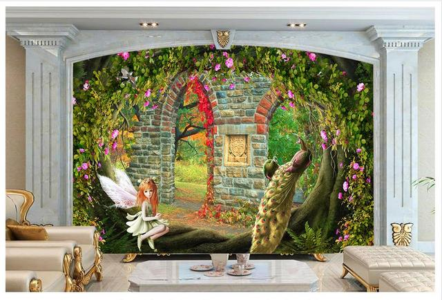 High End Custom 3d Photo Wallpaper Wall Murals A Beautiful Fantasy Garden TV
