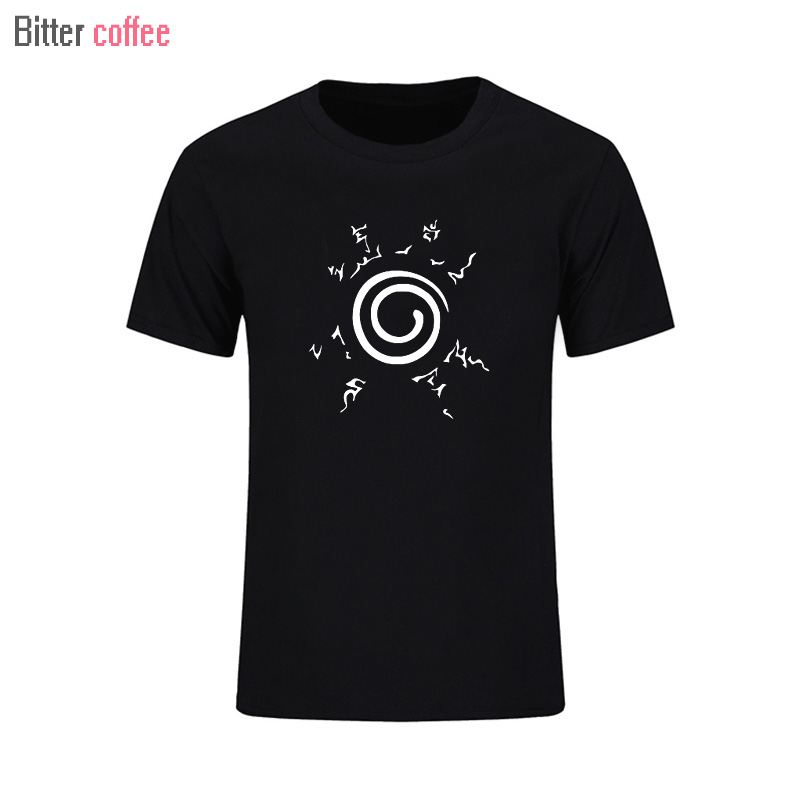 2017 NEW Mens t shirts fashion Anime naruto naruto nine tail seal short sleeve T-shirt tide men in summer T shirt T shirt image