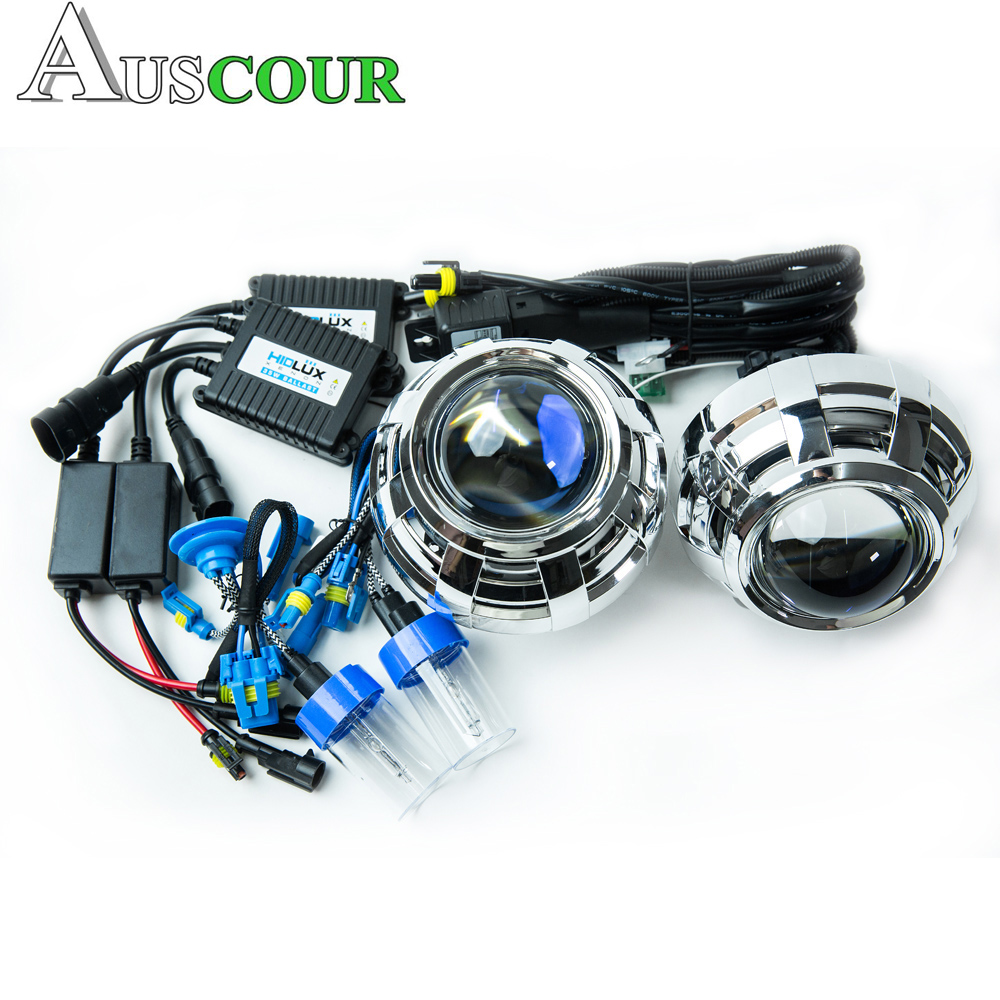 3.0 inch hella 5 car Bi xenon hid Projector lens 6000K xenon kit ballast D2H xenon bulb lamp conversion kit car assembly Modify new m803 2 5 car motorcycle universal headlights hid bi xenon projector kit and m803 hid projector lens for free shipping