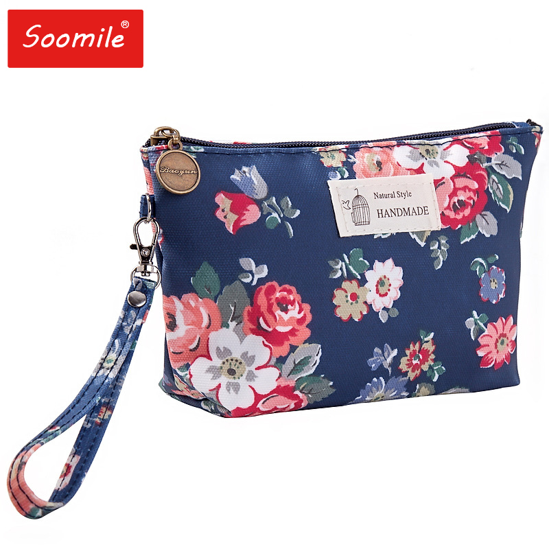 Cute Flower 3D Printing Cosmetic Bag Travel Organizer Women Makeup Bag Zipper Make Up Pouch 2019 Organizer Beautician Makeup Bag