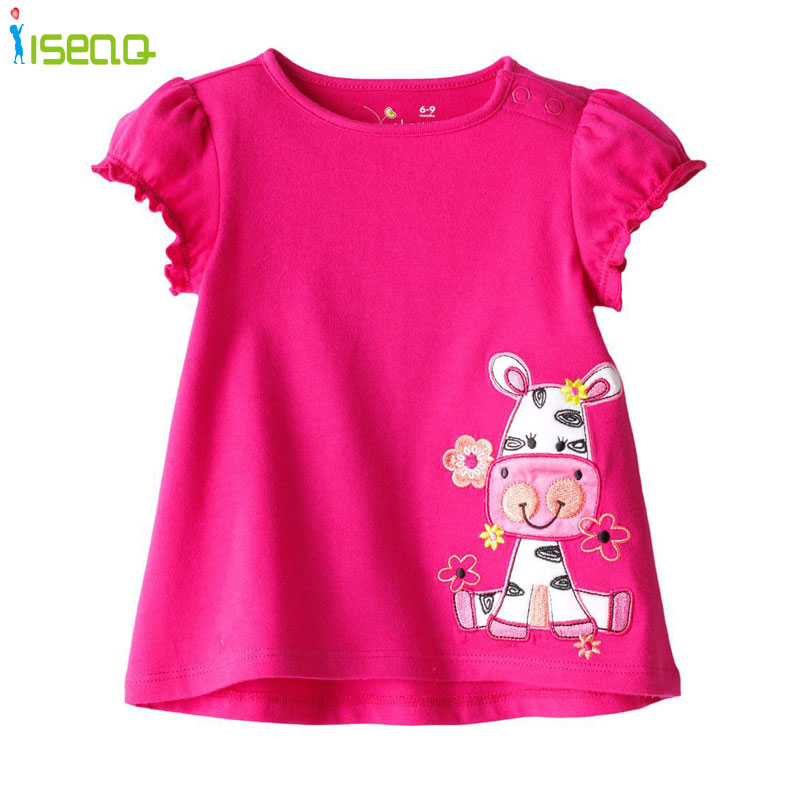 Children Girls T Shirt Summer 2017 Short Sleeve Cartoon T