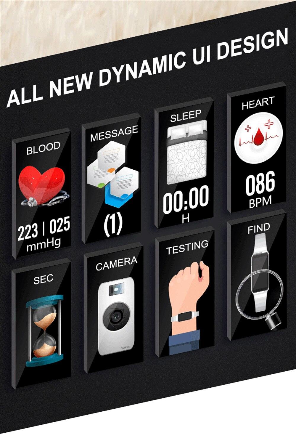 H8 tela de toque relógio inteligente pulseira